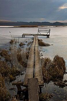 The Bridge On Lake. Royalty Free Stock Photos - Image: 17582788