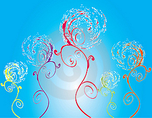 Abstract Flower Illustration Flower Spring Blue Stock Photo - Image: 17583830