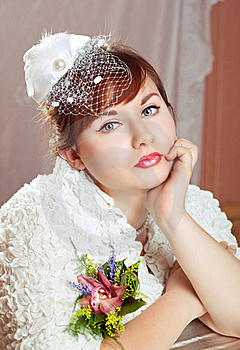 Portrait Of A Beauty Redhead  Bride Royalty Free Stock Photos - Image: 17588398