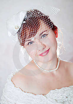 Portrait Of A Beauty Redhead  Bride Royalty Free Stock Images - Image: 17588409