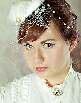 Portrait Of A Beauty Redhead  Bride Royalty Free Stock Image - Image: 17588426