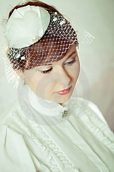 Portrait Of A Beauty Redhead  Bride Stock Images - Image: 17588444