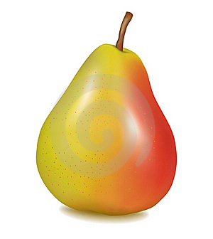 Ripe Yellow Pear. Vector Royalty Free Stock Photo - Image: 17590645