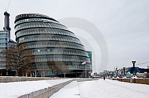 London City Hall In Snow Royalty Free Stock Photos - Image: 17590788