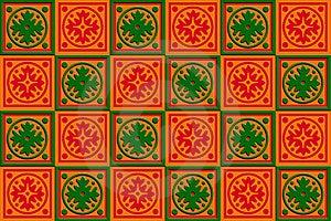 Geschenkkastenverpackung Rot, Orange U. Grün Stockbilder - Bild: 17590864