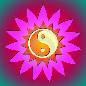 Ying Yang Blume U. Sonne Lizenzfreie Stockfotografie - Bild: 17590997