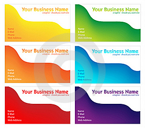 Colorful Business Card Set Stock Photography - Image: 17591332