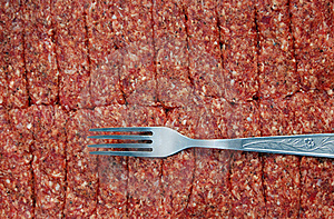 Fork And Minced Meat Royalty Free Stock Images - Image: 17593029