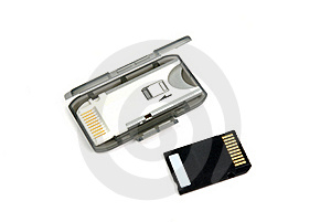 Memory Card And Adapter Royalty Free Stock Photos - Image: 17593308