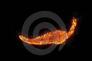 Burning Red Hot Chili Pepper Royalty Free Stock Photos - Image: 17593488