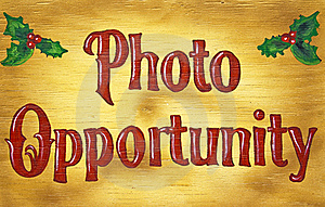 Wood Photo Opportunity Sign Stock Images - Image: 17594034