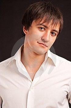 Adult Guy On Black Backdrop Stock Photos - Image: 17596173