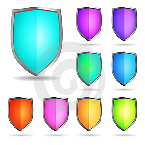 Glossy Shields Royalty Free Stock Photo - Image: 17596335