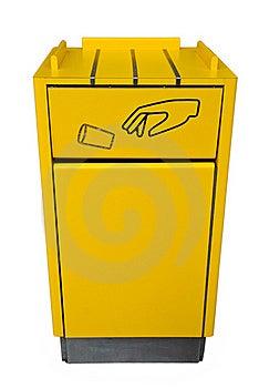 A Yellow Bin. Stock Photos - Image: 17596833
