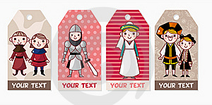Medieval People Card Stock Photo - Image: 17598360