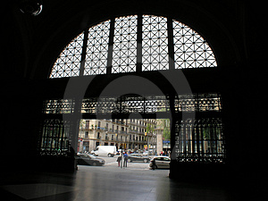 Rialroad Station Arc Royalty Free Stock Photos - Image: 1762798