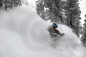Women Snow Boarder #2 In Action Stock Photo - Image: 1765000