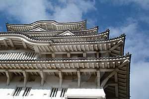 The Sky Of Himeji Castle 01 Royalty Free Stock Images - Image: 1769659