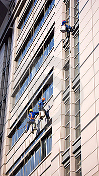 Building Cleaning In Shanghai Royalty Free Stock Photo - Image: 17600165