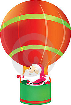 Santa Claus In Balloon Stock Photography - Image: 17600812