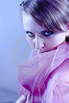 Portrait Of Girl In Blue Tones Stock Image - Image: 17604211