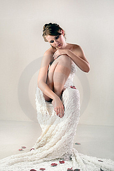 Young Woman In White Cloth Stock Image - Image: 17604311