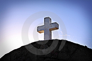 White Cross Royalty Free Stock Photo - Image: 17605845