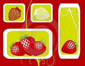 Abstract Fruit Illustration Strawberry  Red  Royalty Free Stock Photos - Image: 17606698