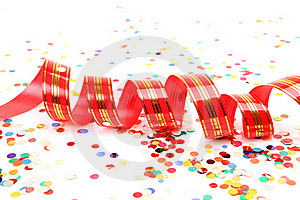 Confetti And Streamer Royalty Free Stock Images - Image: 17610419