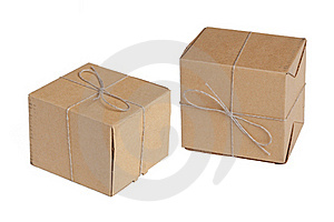 The two packing boxes Royalty Free Stock Image