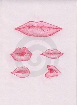 Illustration Lips Royalty Free Stock Photo - Image: 17614245