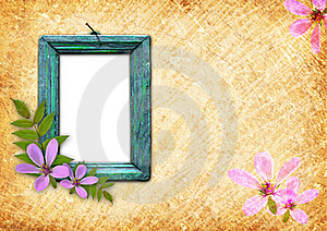 Old wooden frame Royalty Free Stock Photo