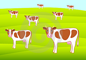 Brown Cows Stock Images - Image: 17617944