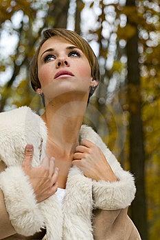 Beautiful Woman At Fall Stock Photo - Image: 17621340