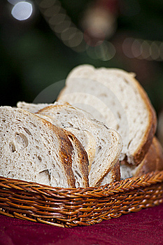 Bread In Wicker Basket Stock Photo - Image: 17621530