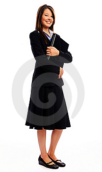 Full Length Portrait Of A Businesswoman Royalty Free Stock Images - Image: 17621689