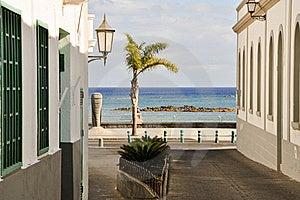 Lanzarote - Charmful Street Royalty Free Stock Image - Image: 17623176