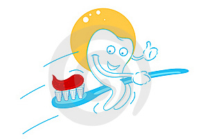 Happy Teeth With Tooth Paste Stock Images - Image: 17623944