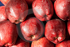 Background Of Red Ripe Apples Stock Photo - Image: 17624280