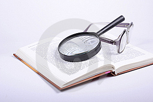 The Book And Lens Royalty Free Stock Photography - Image: 17624667