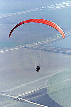 Paraglider Flying Stock Photo - Image: 17625270