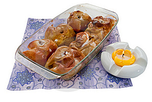 Freshly Baked Apples In A Tray Royalty Free Stock Images - Image: 17625679