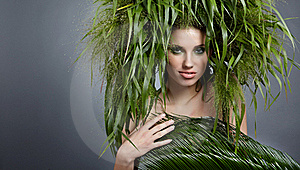 Ecology Woman, Green Concept Stock Photography - Image: 17626782
