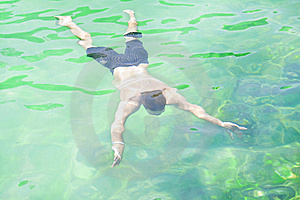 Underwater Swimmer Stock Image - Image: 17629141