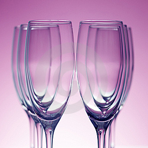 Empty Champagne Glasses Stock Photo - Image: 17629630