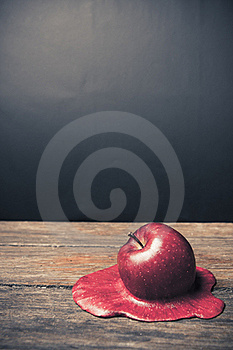 Apple Melting On The Floor Stock Photography - Image: 17630522