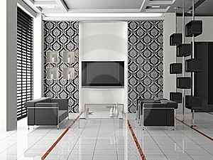 Living Room 3D Royalty Free Stock Image - Image: 17630806