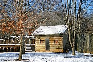 Log Cabin At Sycamore Shoals Stock Image - Image: 17631861