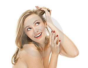 Natural Beauty Portrait An Attractive Sexual Girl Royalty Free Stock Photography - Image: 17633387