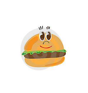 Burger Character Royalty Free Stock Images - Image: 17641979